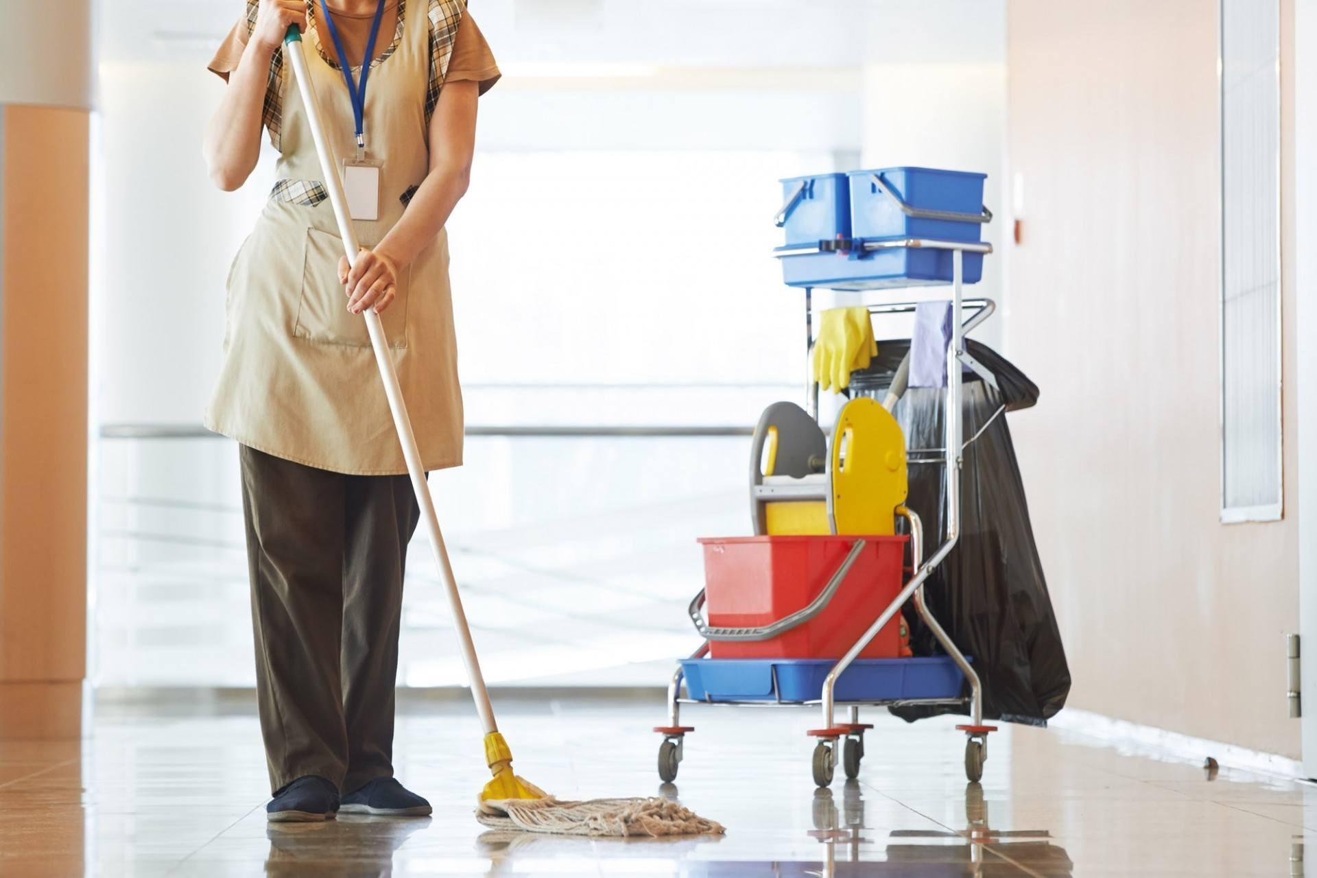 A limpeza dos condomínios